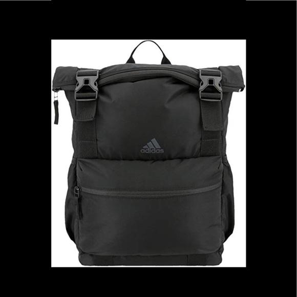 adidas Bags   Yola Black Backpack Nwt   Poshmark 1289279700
